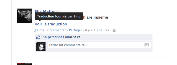 Quand Facebook fait de la traduction